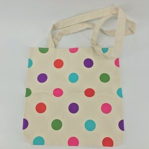 Kate Spade Polka Dot Canvas Tote New Without Tags